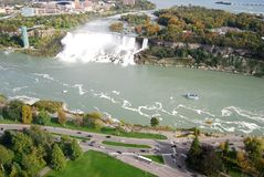 Niagara Falls Aerial View. From Canada Side royalty free stock photography
