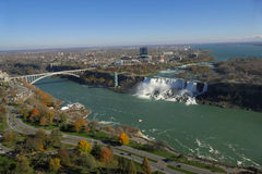 Niagara Falls Aerial View Royalty Free Stock Image