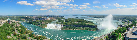 Niagara Falls aerial view Royalty Free Stock Photo