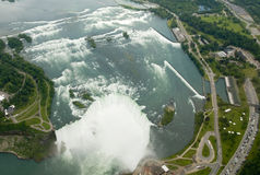 Niagara Falls from the air Royalty Free Stock Image