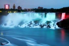 Niagara Falls alla notte Immagine Stock Libera da Diritti