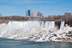 Niagara Falls (américain) en hiver Photographie stock libre de droits
