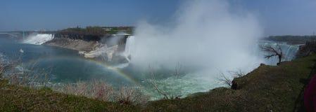 Niagara Falls. American and Canadian Waterfalls at Niagara Royalty Free Stock Photo