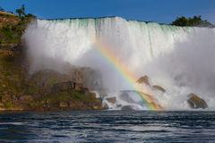 Niagara Falls - The American Falls and a Rainbow royalty free stock images