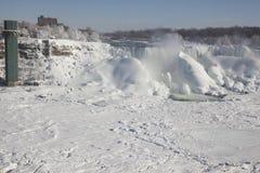 Niagara falls the american falls during winter frozen Royalty Free Stock Image
