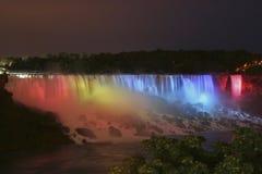 Niagara Falls. The American Falls in Niagara Falls at night Royalty Free Stock Photos
