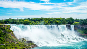 Niagara falls. American side of Niagara falls royalty free stock photos