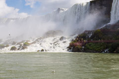 Niagara Falls. American side Niagara falls from Maid of the mist royalty free stock images