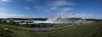 The Niagara falls from the American side stock photography