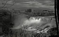 Niagara Falls, Ansicht der amerikanischen Fälle Stockbild