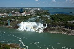 Niagara falls, areal views. The picture of 2 falls at Niagara. The picture was made from Canadien side Stock Images