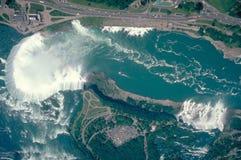 Niagara Falls ariel Schuß stockfotografie