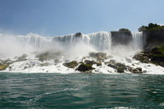 Niagara Falls as seen from the river Stock Images