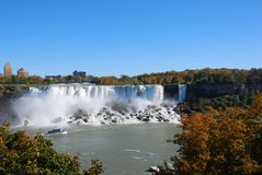 Niagara Falls in autumn. Sunny day Royalty Free Stock Photo