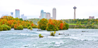 Niagara Falls in autumn Royalty Free Stock Images