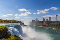 Niagara Falls in autumn, USA Stock Images