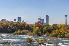 Niagara Falls in autumn, USA Stock Photo
