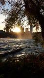 Niagara falls. Beautiful powerful waterfall Royalty Free Stock Images