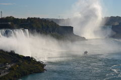 Niagara Falls. Beautiful view overlooking Niagara Falls, NY / Canada royalty free stock images