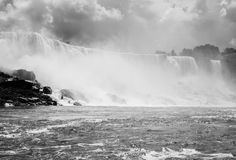 Niagara Falls in Black and White Stock Photography