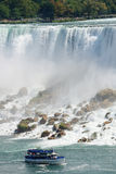 Niagara Falls with boat Stock Image