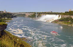 Niagara Falls, bordering Canada and New York State Royalty Free Stock Photo