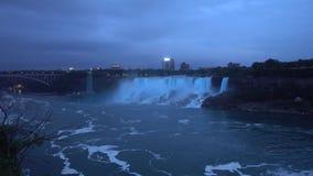 Niagara Falls - a cachoeira a maior em America do Norte video estoque