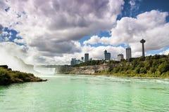 Niagara Falls Canadá los E.E.U.U. Foto de archivo libre de regalías