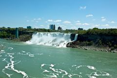 Niagara falls, Canada. The picture of one of 2 falls at Niagara. The picture was made from Canadien side Royalty Free Stock Photos