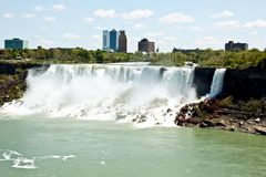 Niagara falls, Canada. The picture of 2 falls at Niagara. The picture was made from Canadien side Stock Photo