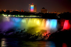 NIAGARA FALLS Canada. Taking in Night Time royalty free stock image