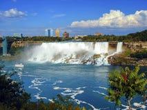Niagara falls from Canada Stock Images