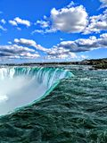 Niagara falls from Canada stock photos