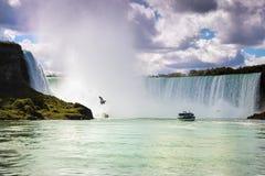 Niagara Falls Canada de V.S. Royalty-vrije Stock Fotografie