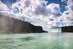 Niagara Falls Canada de V.S. Stock Foto's