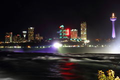 Niagara Falls Canada Night Skyline 3 Stock Photography
