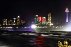 Niagara Falls Canada Night Skyline 3 Stock Photography