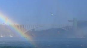 NIAGARA FALLS, CANADA - NOVEMBER 13th 2016: Rainbow bridge conne Stock Photo