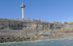 NIAGARA FALLS, CANADA - NOVEMBER 13th 2016: The Skylon Tower is. An observation tower that overlooks Niagara Falls Royalty Free Stock Photography