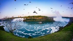 Niagara Falls Canada. View at Niagara Falls at sunset Royalty Free Stock Photo