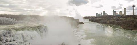 Niagara Falls in Canada during winter. Stock Images