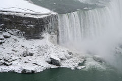 Niagara Falls - Canadese Kant - de Winter royalty-vrije stock fotografie