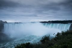 The Niagara Falls from the Canadian side Stock Image