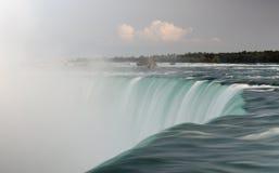 Niagara Falls Canadian side. Long exposure shot of the Niagara Falls taken from the Canadian side Royalty Free Stock Image