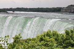 Niagara Falls from the Canadian Side. View of Niagara Falls from the Canadian Side. The thunderous falls are a spectacular site from the maid of the mist. The Stock Photos