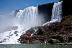 Niagara Falls, cara americana foto de archivo libre de regalías