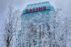 Niagara Falls Casino in Winter Stock Photography