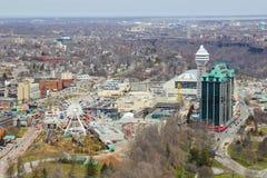 Niagara Falls City High Angle Royalty Free Stock Image