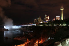 Niagara Falls - City Night Royalty Free Stock Images