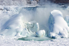 Niagara falls covered with snow and ice Stock Image